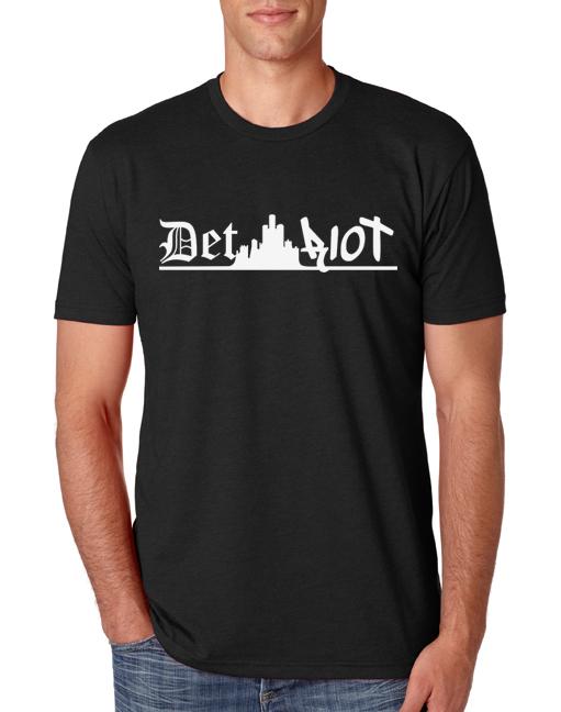 Detroit Skyline Black Mens