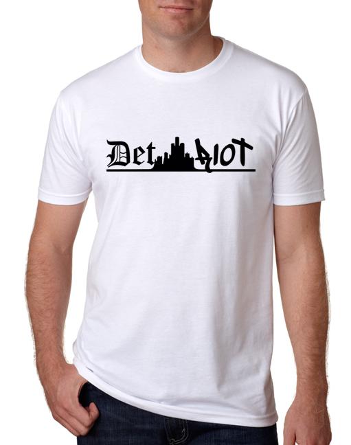 Detroit Skyline White Mens
