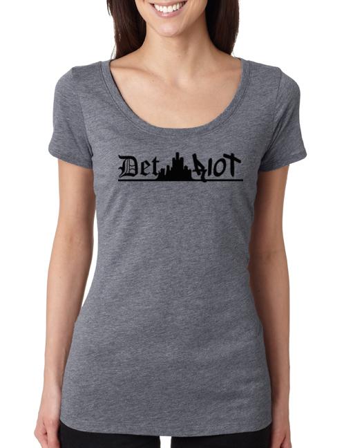 Detroit Skyline Grey Womens