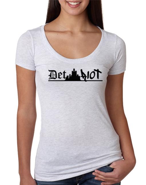 Detroit Skyline White Womens